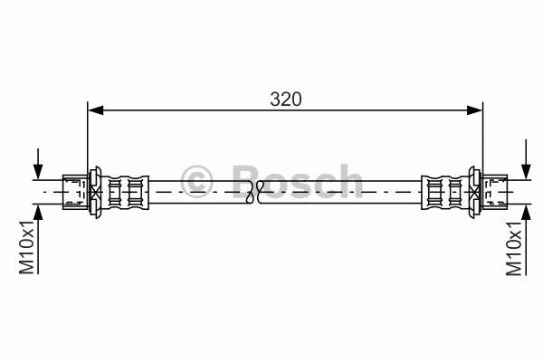 Flexible de frein - BOSCH - 1 987 481 181