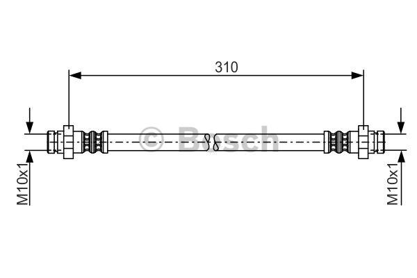 Flexible de frein - BOSCH - 1 987 481 193