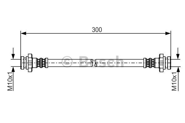 Flexible de frein - BOSCH - 1 987 481 195