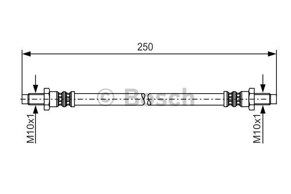 Flexible de frein - BOSCH - 1 987 481 198