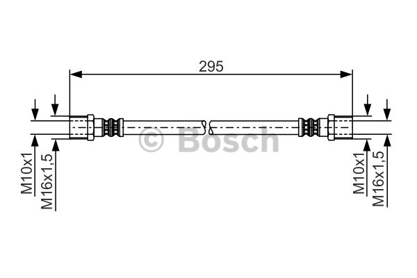 Flexible de frein - BOSCH - 1 987 481 204