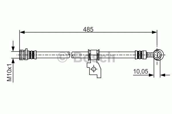 Flexible de frein - BOSCH - 1 987 481 205