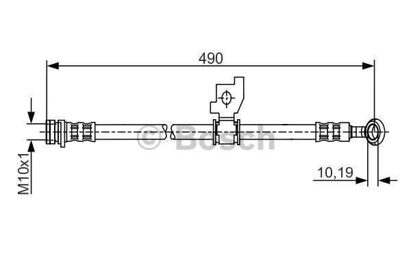 Flexible de frein - BOSCH - 1 987 481 206
