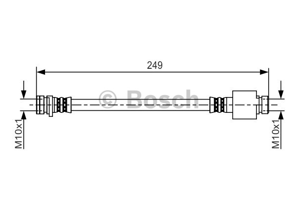 Flexible de frein - BOSCH - 1 987 481 212