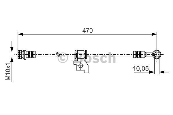 Flexible de frein - BOSCH - 1 987 481 219
