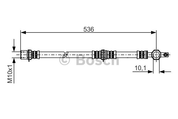 Flexible de frein - BOSCH - 1 987 481 221