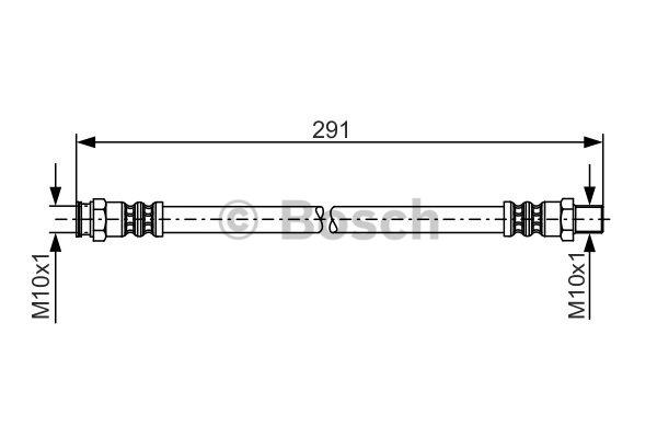 Flexible de frein - BOSCH - 1 987 481 222