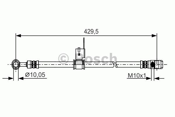 Flexible de frein - BOSCH - 1 987 481 225