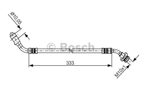 Flexible de frein - BOSCH - 1 987 481 229