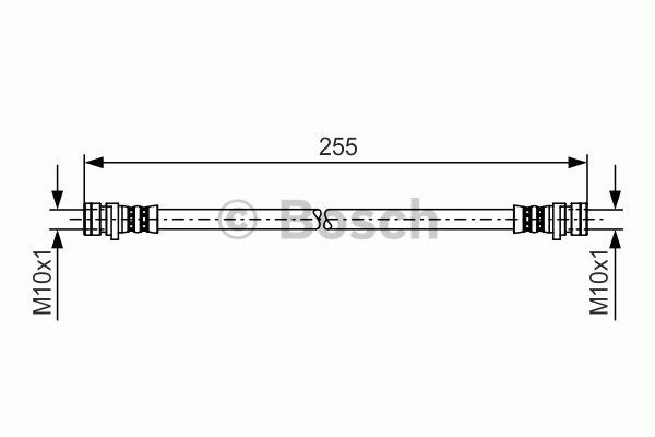 Flexible de frein - BOSCH - 1 987 481 234