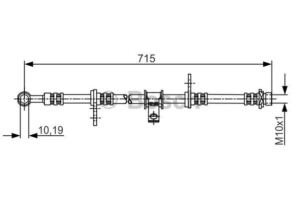 Flexible de frein - BOSCH - 1 987 481 240