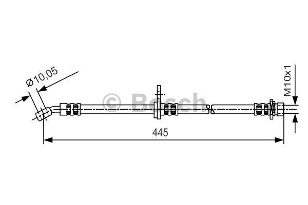 Flexible de frein - BOSCH - 1 987 481 242