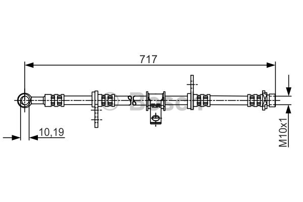 Flexible de frein - BOSCH - 1 987 481 244