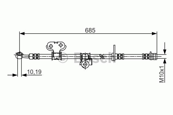 Flexible de frein - BOSCH - 1 987 481 245