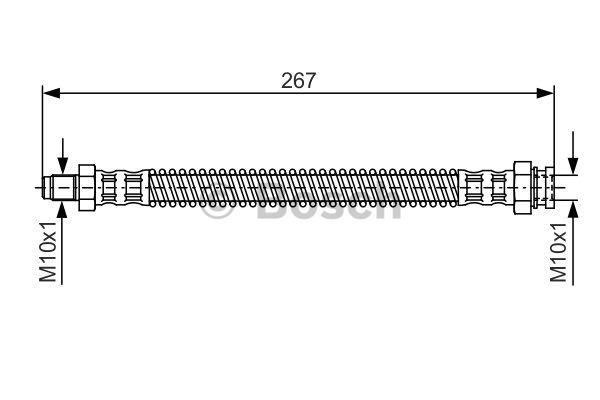 Flexible de frein - BOSCH - 1 987 481 250