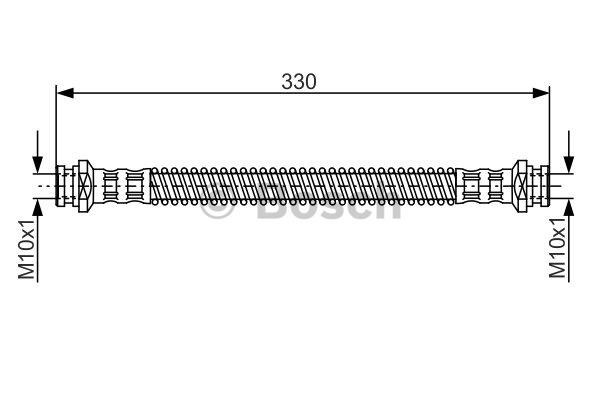 Flexible de frein - BOSCH - 1 987 481 254