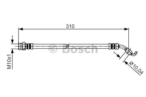 Flexible de frein - BOSCH - 1 987 481 257