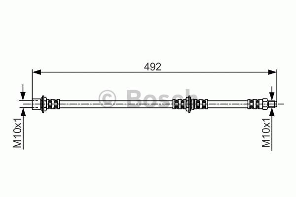 Flexible de frein - BOSCH - 1 987 481 260