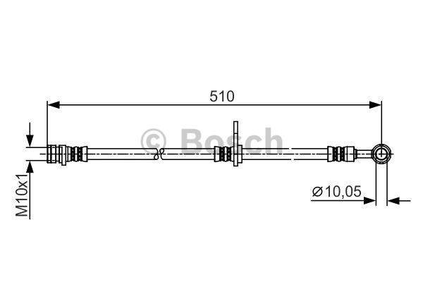 Flexible de frein - BOSCH - 1 987 481 261