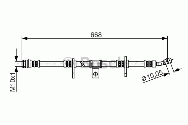 Flexible de frein - BOSCH - 1 987 481 272