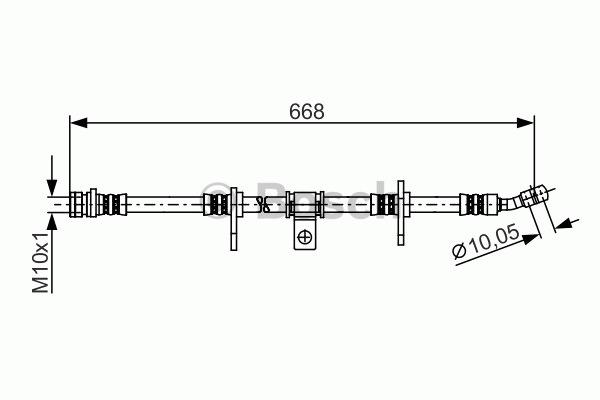 Flexible de frein - BOSCH - 1 987 481 273