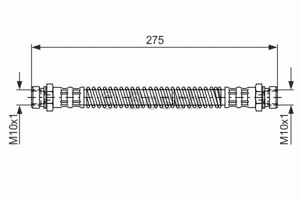 Flexible de frein - BOSCH - 1 987 481 276