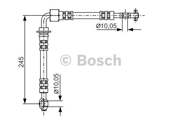 Flexible de frein - BOSCH - 1 987 481 282