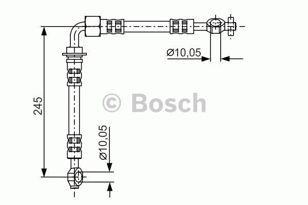 Flexible de frein - BOSCH - 1 987 481 283
