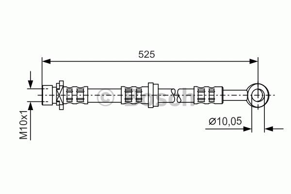 Flexible de frein - BOSCH - 1 987 481 285