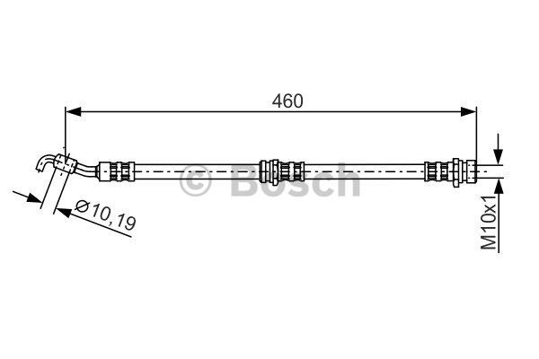 Flexible de frein - BOSCH - 1 987 481 288