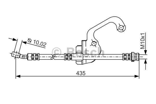 Flexible de frein - BOSCH - 1 987 481 299