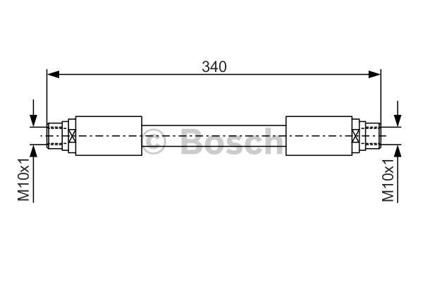 Flexible de frein - BOSCH - 1 987 481 301