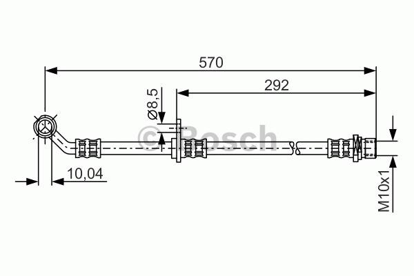 Flexible de frein - BOSCH - 1 987 481 303