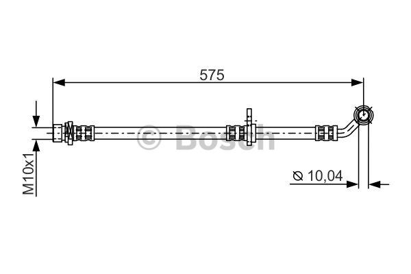 Flexible de frein - BOSCH - 1 987 481 304