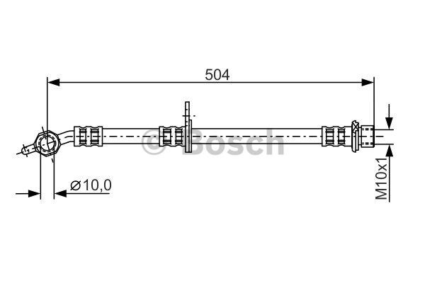 Flexible de frein - BOSCH - 1 987 481 306