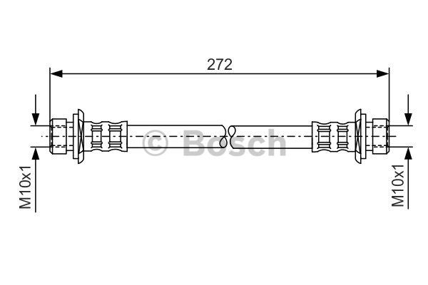 Flexible de frein - BOSCH - 1 987 481 307