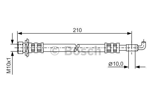Flexible de frein - BOSCH - 1 987 481 308