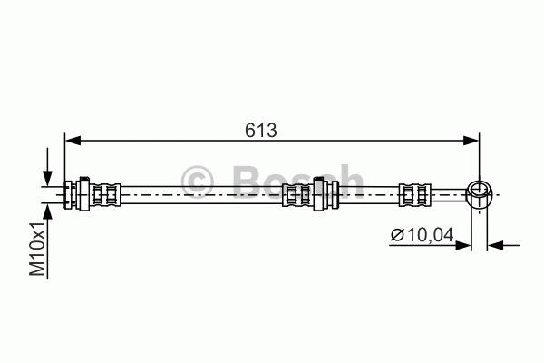 Flexible de frein - BOSCH - 1 987 481 310