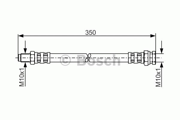 Flexible de frein - BOSCH - 1 987 481 311