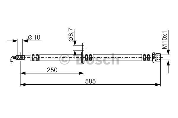 Flexible de frein - BOSCH - 1 987 481 314