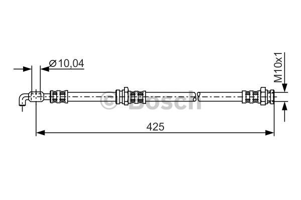 Flexible de frein - BOSCH - 1 987 481 315