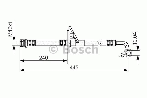 Flexible de frein - BOSCH - 1 987 481 318