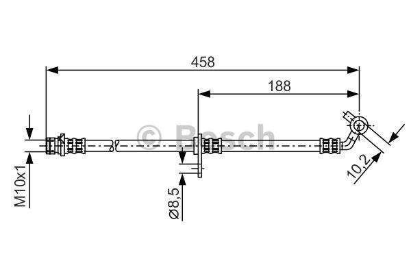 Flexible de frein - BOSCH - 1 987 481 325