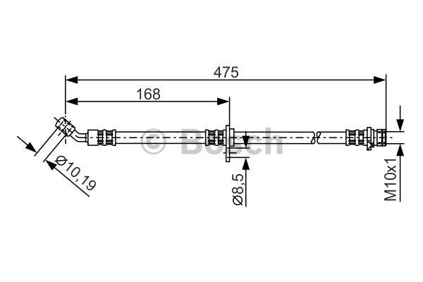 Flexible de frein - BOSCH - 1 987 481 327