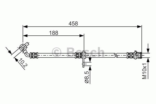 Flexible de frein - BOSCH - 1 987 481 330