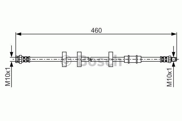Flexible de frein - BOSCH - 1 987 481 336