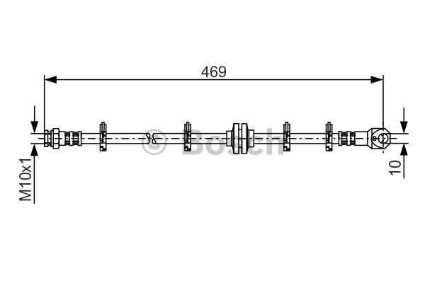 Flexible de frein - BOSCH - 1 987 481 337