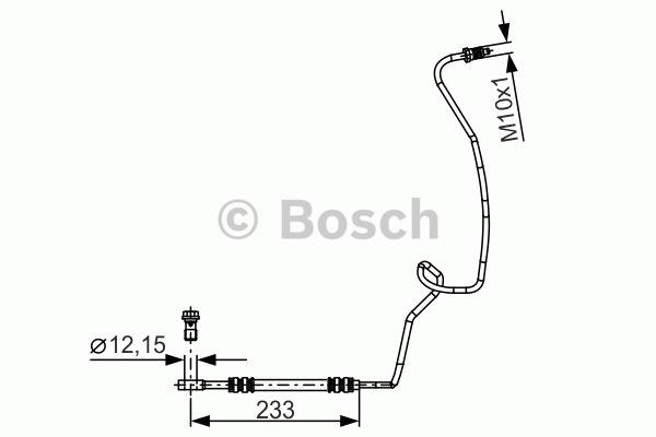 Flexible de frein - BOSCH - 1 987 481 338