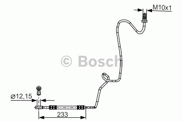 Flexible de frein - BOSCH - 1 987 481 339