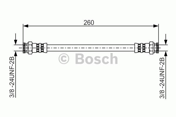 Flexible de frein - BOSCH - 1 987 481 346